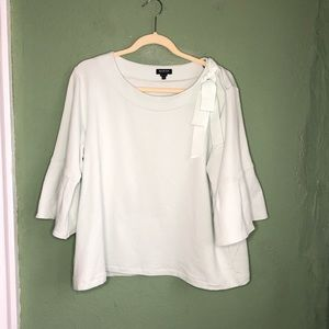Mint Green Bell Sleeve Modal Top Size XL
